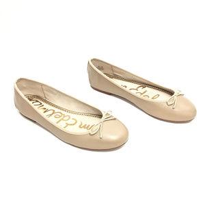 - SOLD - Sam Edelman Nude Leather Ballet Flats